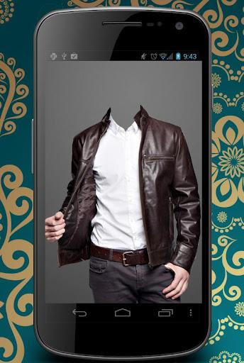 Leather Coat Man Photo Suit