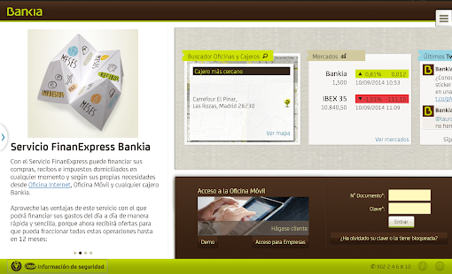 Bankia tablet android apps on google play for Bankia oficina movil