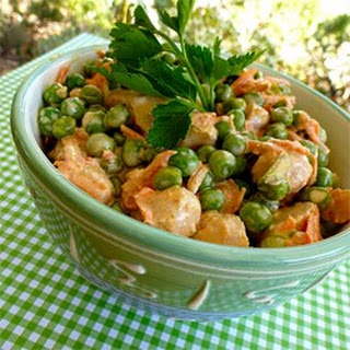 Crunchy Pea and Water Chestnut Salad Recipe