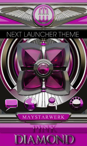 Next Launcher theme Pink Diamo