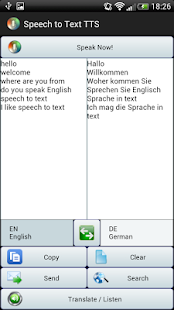 Sprache in Text Übersetzer TTS Screenshot