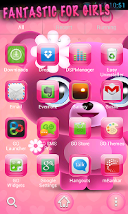 Cute Pink Go Launcher Theme - screenshot thumbnail