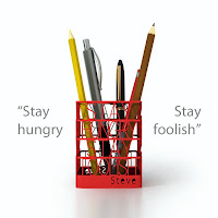 Steve Jobs' Quote Pen Holder Desktop Organizer