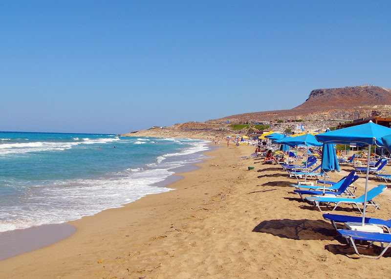 Heraklion beach on the island of Crete, Greece.