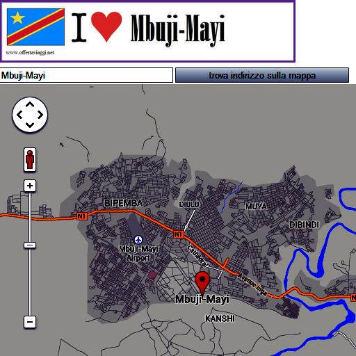Mbuji mayi map