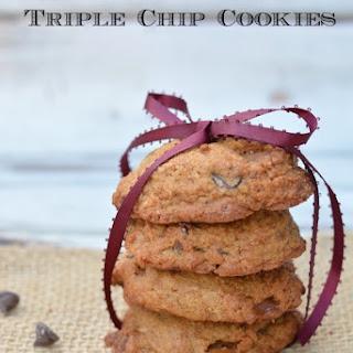 Gluten Free Triple Chip Cookies.