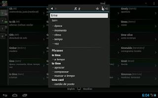 Screenshot of Free Dict Brazilian English