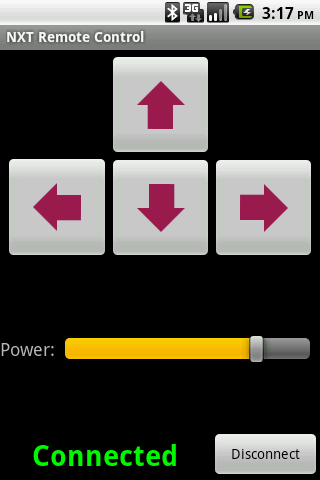 NXT Remote Control - screenshot
