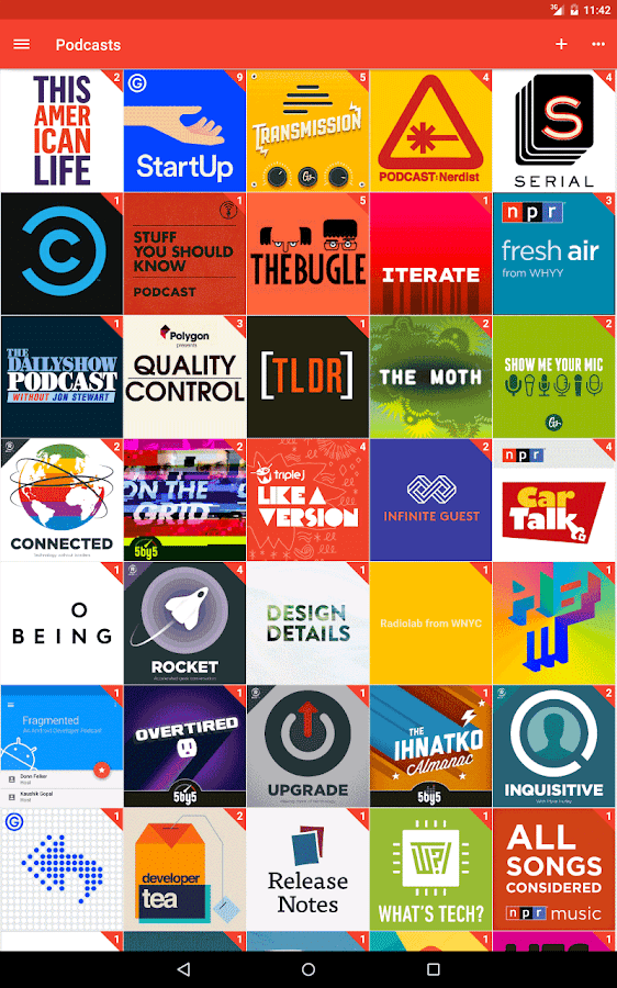 Pocket Casts – zrzut ekranu