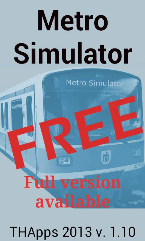 Metro Simulator FREE- screenshot