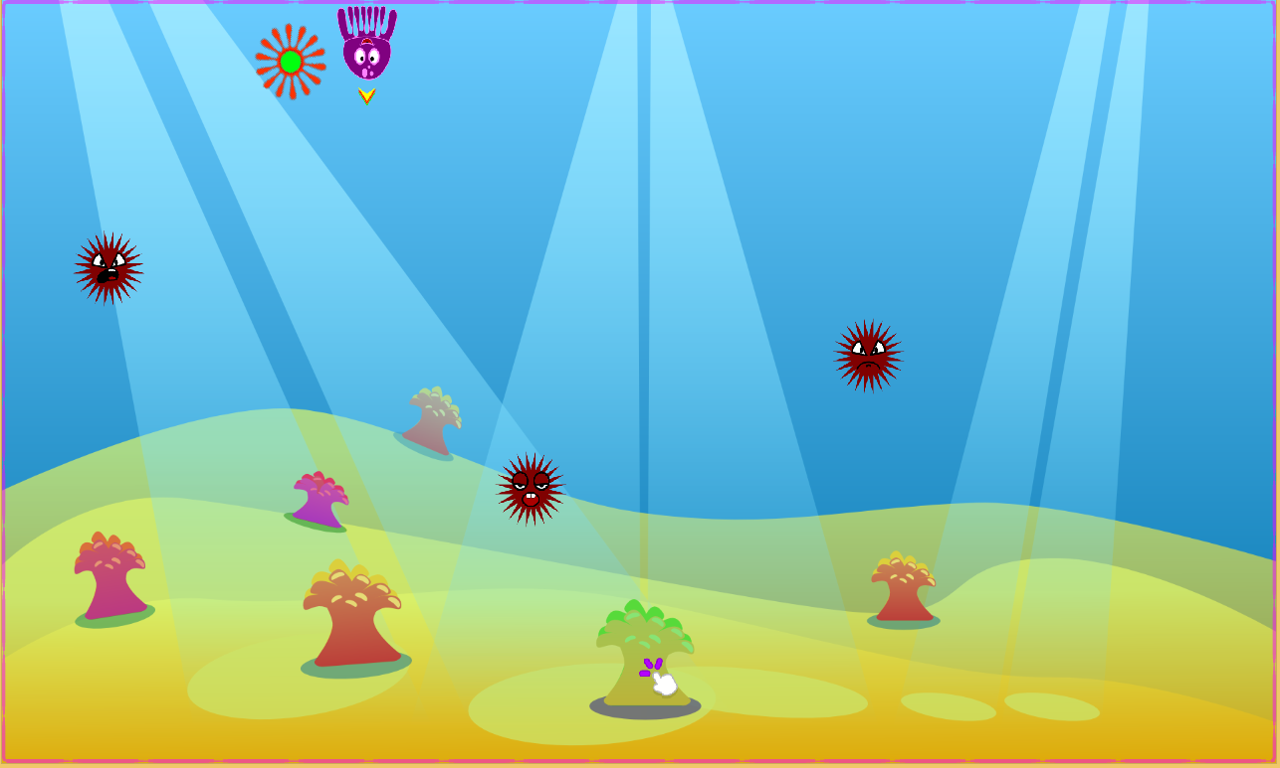 Octopus vs Urchin- screenshot