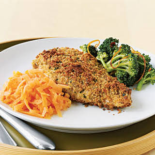 Chicken with Parmesan, Garlic, and Herb Crust.