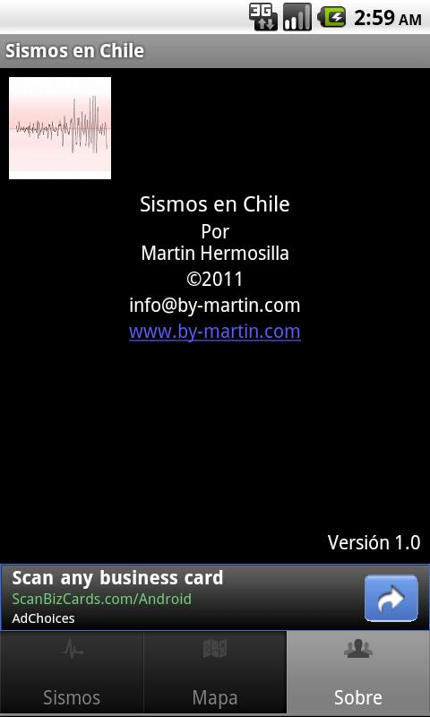 Sismos en Chile - screenshot