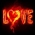 3D cool love logo