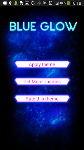 GO Keyboard Blue Glow Theme