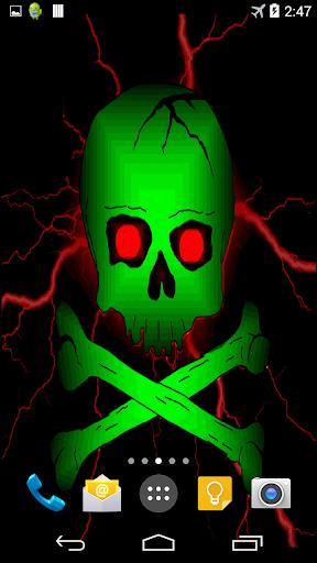 Toxic Skull Live Wallpaper