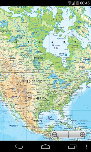 北美洲地圖