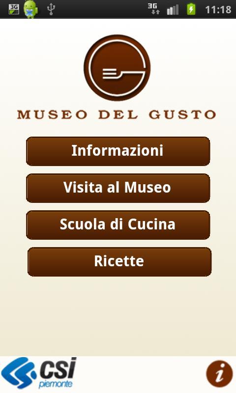 MuseoDelGusto- screenshot