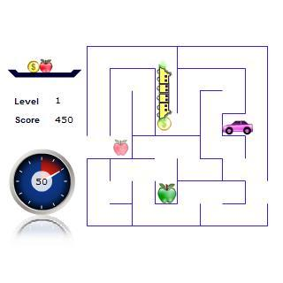 Train maze for kids