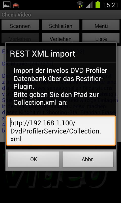 CheckVideo for DVD Profiler - screenshot