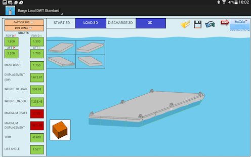 BARGE LOAD DWT STANDARD 3D- screenshot thumbnail
