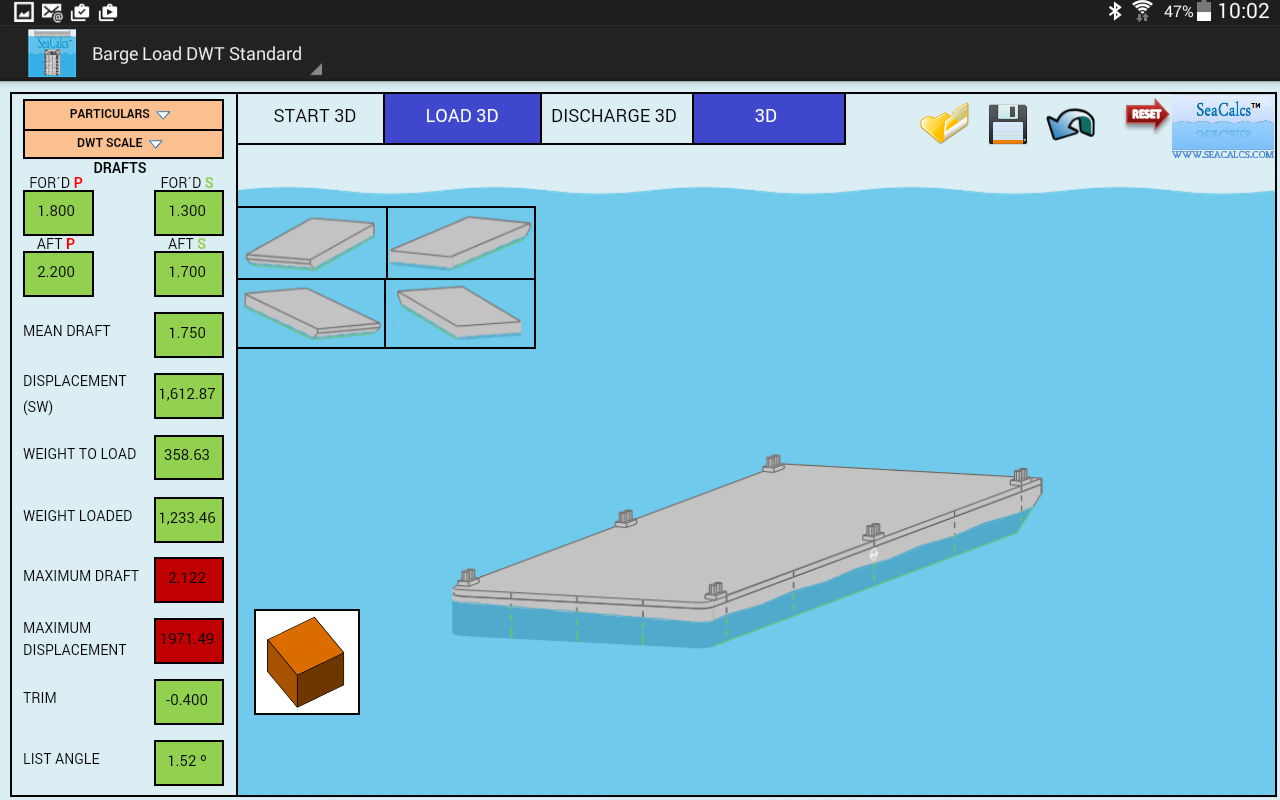 BARGE LOAD DWT STANDARD 3D- screenshot