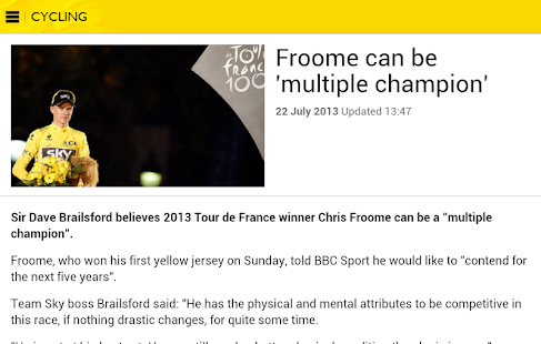BBC Sport - screenshot thumbnail