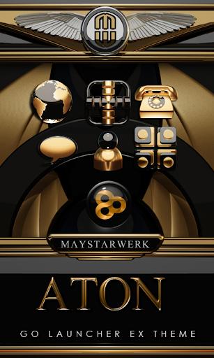 GO Launcher theme Aton