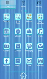 Blue Chill Go Launcher Ex - screenshot thumbnail