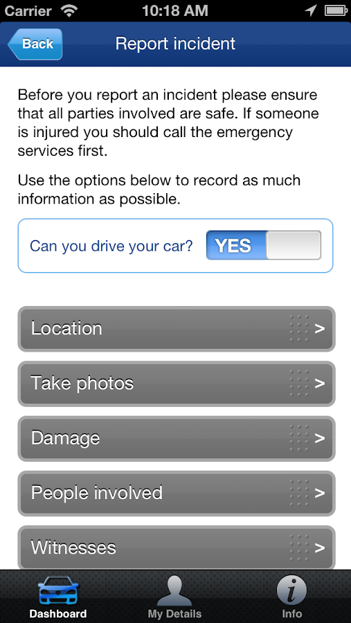 Volkswagen Insurance- screenshot