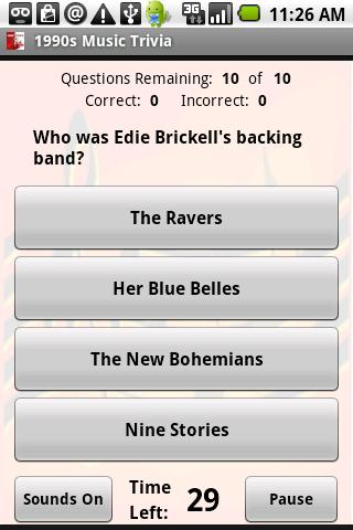1990s Music Trivia - screenshot