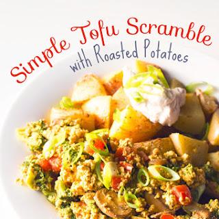 Simple Tofu Scramble with Roasted Potatoes