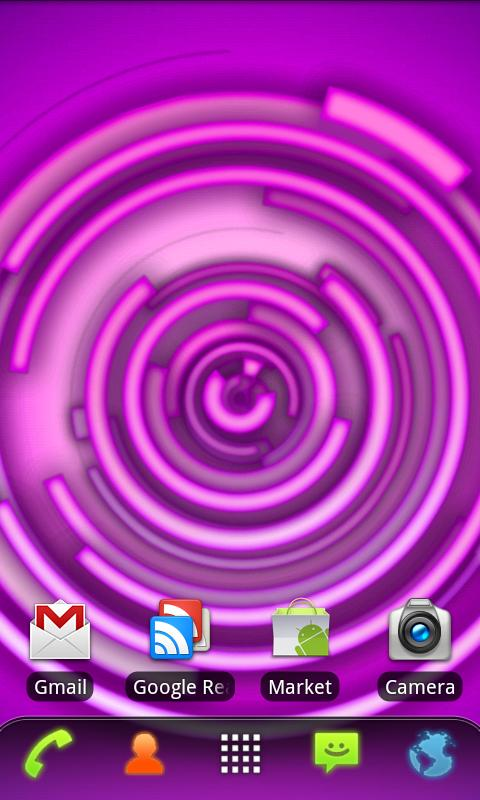 RLW Theme Purple Neon - screenshot