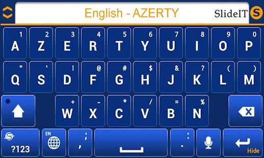 SlideIT English AZERTY Pack- screenshot thumbnail