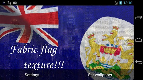 Hong Kong British Flag LWP Try - screenshot thumbnail