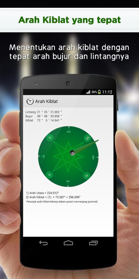 Alarm Jadwal Sholat dan Kiblat - screenshot