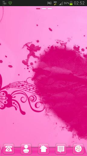 Launcher Theme GO桌面 粉紅色的心