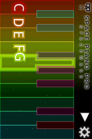 Space Piano Pro- screenshot