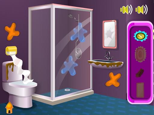 清洗浴室女孩遊戲