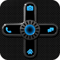 GO Locker NEON BLUE Theme icon
