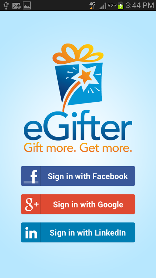 eGifter - screenshot