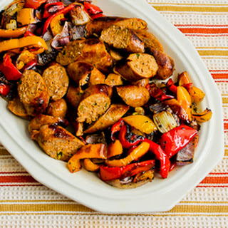 Easy Recipe for Roasted Bell Peppers and Red Onions with Turkey Italian Sausage (and Moving!)