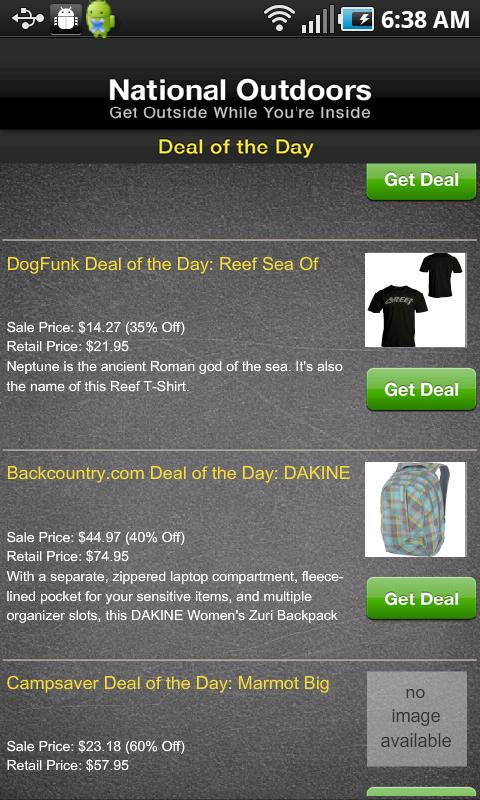 Daily Gear Deals - screenshot
