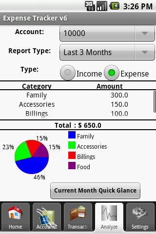 ExpenseTracker - screenshot
