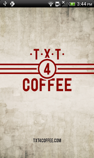 TXT4Coffee Shop App