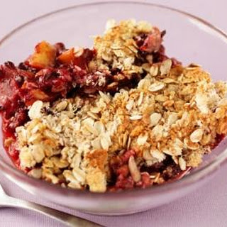 Crunchy Fruit And Oat Crumble.