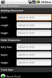 Redirack Pallet Estimator - screenshot thumbnail