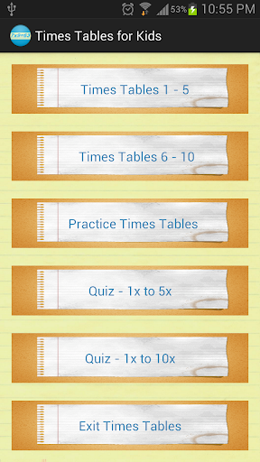 Times Tables Quiz for Kids