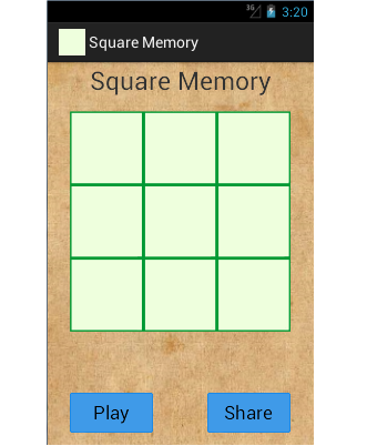 Hardest Square Memory Game