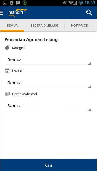 mandiri lelang- screenshot